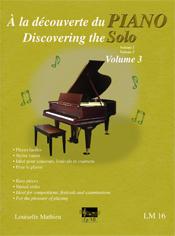 À la découverte du piano solo, vol. 3