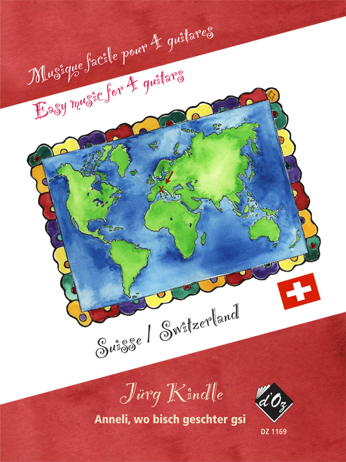 Musique facile pour 4 guitares - Suisse (Anneli)