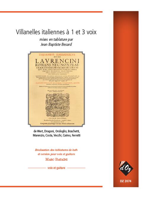 Villanelles italiennes à 1 et 3 voix