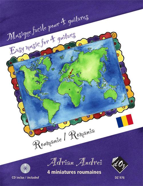 Musique facile pour 4 guitares - 4 miniatures, CD incl. (Romania)