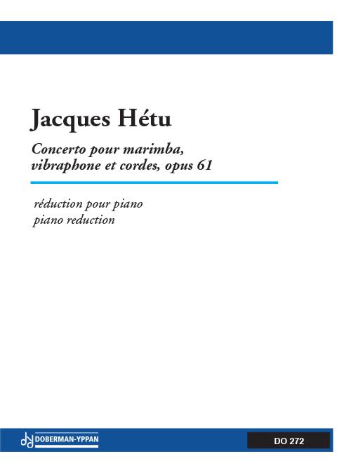 Concerto pour marimba, vibraphone et cordes, opus 61 (réduction de piano)