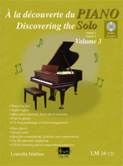À la découverte du piano solo, vol. 3 (incl. CD)
