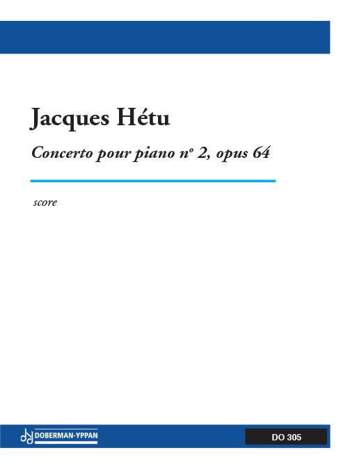 Concerto pour piano, opus 64, no. 2 (score)