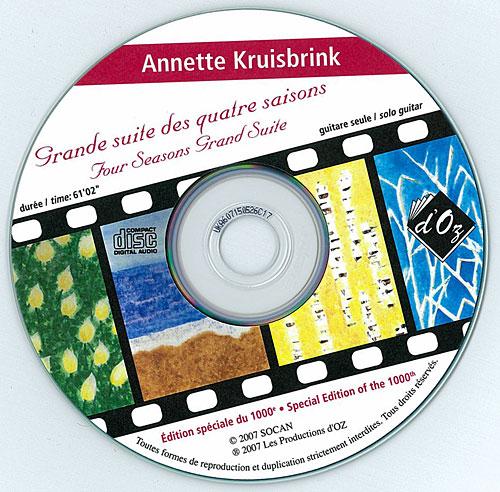 Grande suite des quatre saisons (CD)