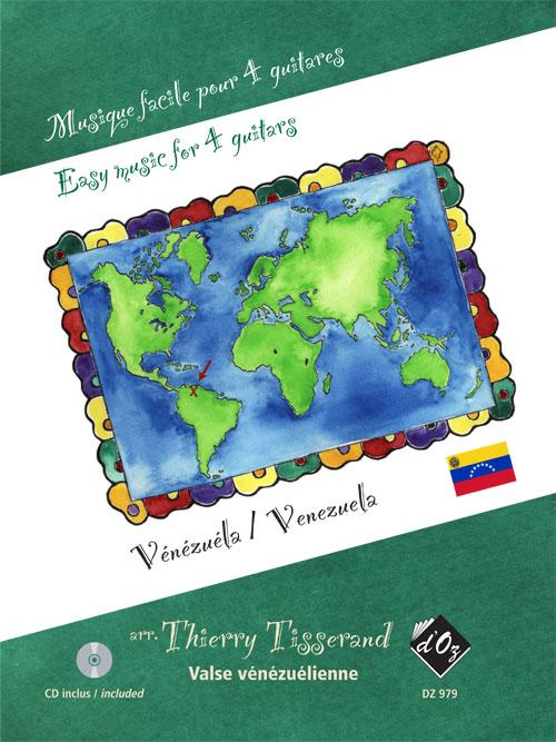 Musique facile pour 4 guitares - Valse, CD incl. (Vénézuela)