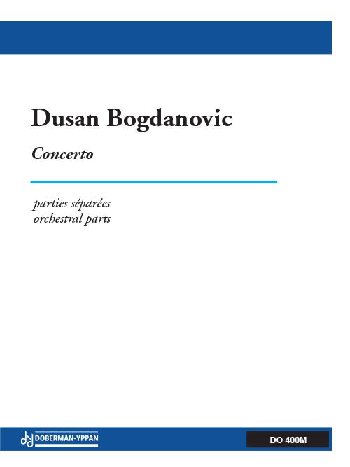 Concerto pour guitare et orchestre à cordes (parties - PDF)