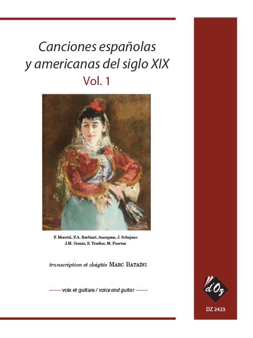 Canciones españolas y americanas del siglo XIX, vol. 1