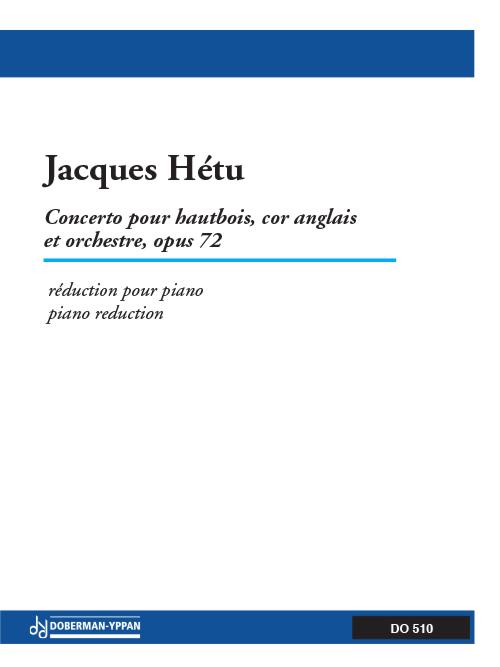 Concerto pour hautbois, cor anglais et orchestre, opus 72 (réduction de piano)