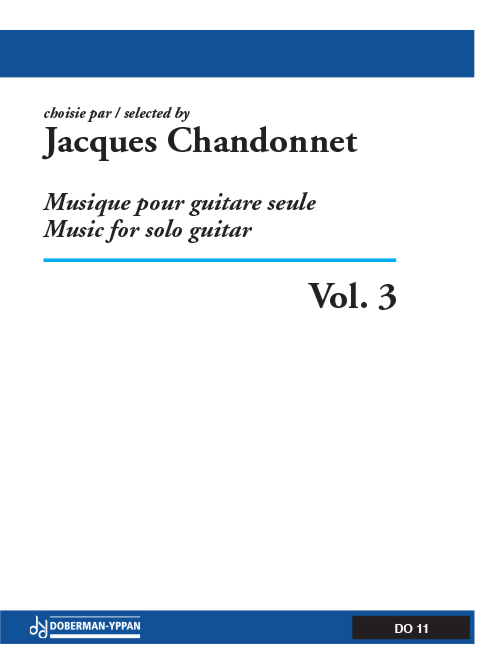 Musique pour guitare seule, Vol. 3